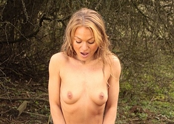 Geri nude outdoors
